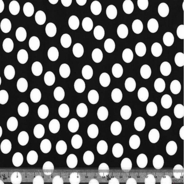 Jersey Cristal Polyester Rond Blanc Fond Noir