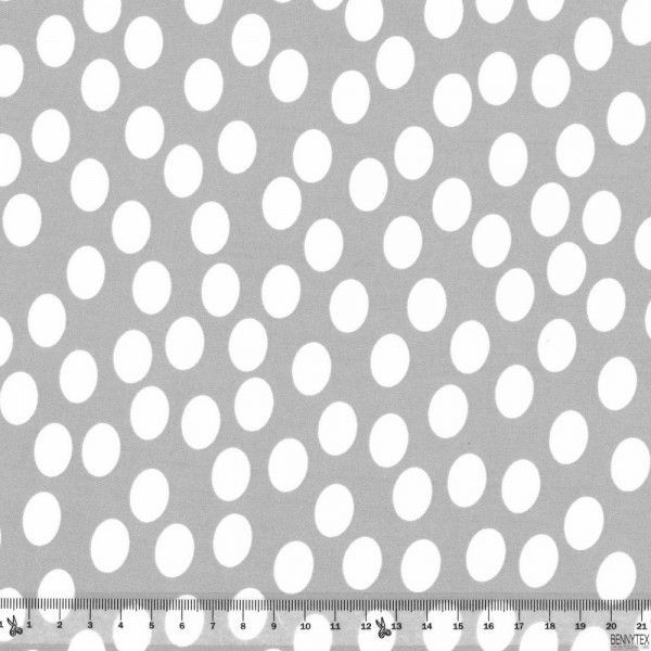 Jersey Cristal Polyester Rond Blanc Fond Beige