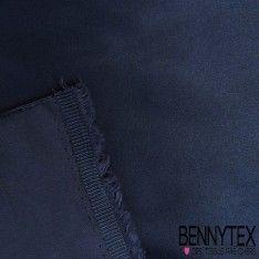 Satin Coton Polyester Élasthanne Couleur Bleu Marine