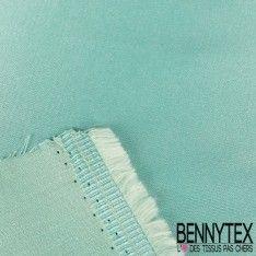 Satin Coton Polyester Élasthanne Couleur Vert d'eau