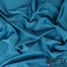 Satin Coton Polyester Élasthanne Couleur Bleu Petrole