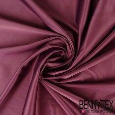 Satin Coton Polyester Élasthanne Couleur Prune