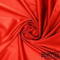 Satin Coton Polyester Élasthanne Couleur Rouge