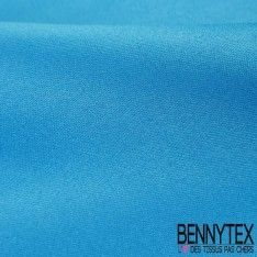 Satin Coton Polyester Élasthanne Couleur Bleu Glacier