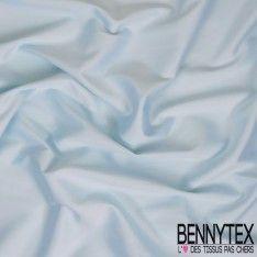 Satin Coton Polyester Élasthanne Couleur Bleu Ciel