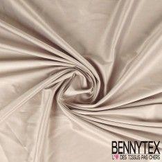Satin Coton Polyester Élasthanne Couleur Beige