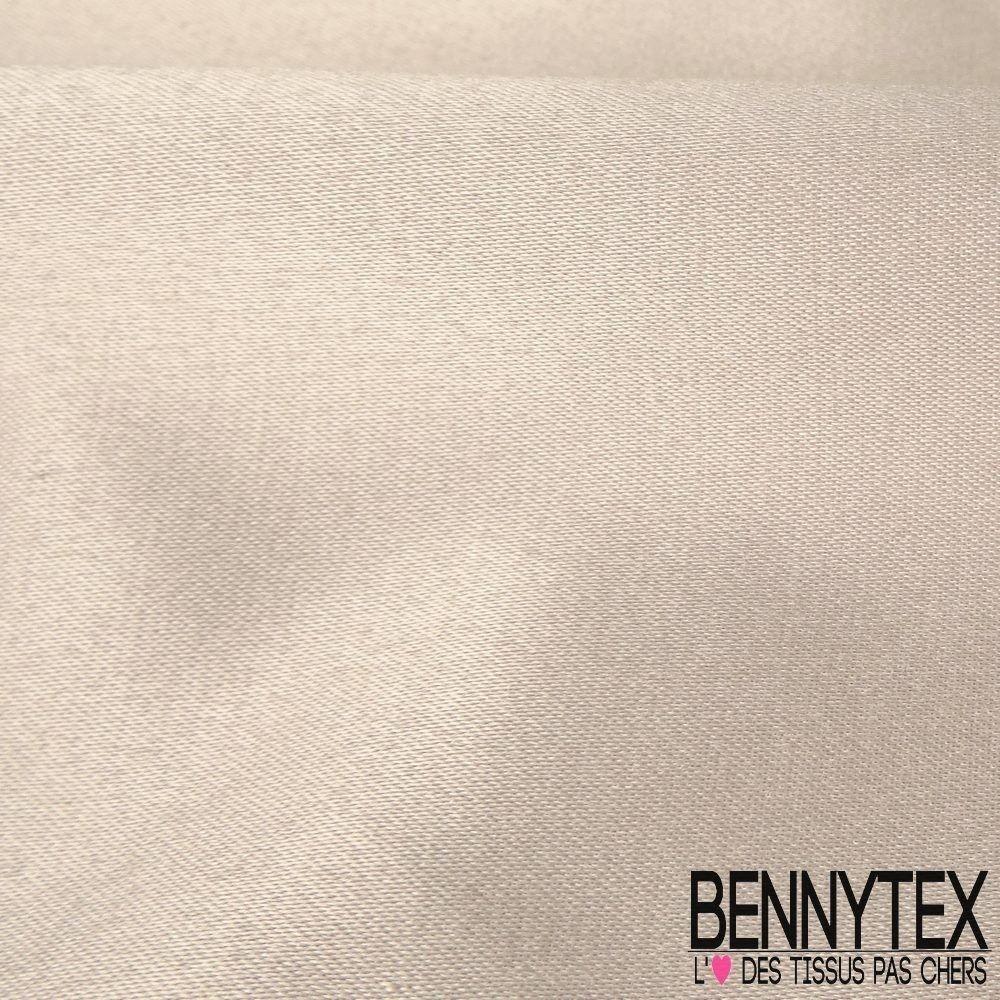 satin coton polyester Élasthanne couleur beige | bennytex vente de