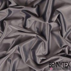 Satin Coton Polyester Élasthanne Couleur Gris Anthracite