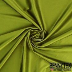 Satin Coton Polyester Élasthanne Couleur Vert Olive