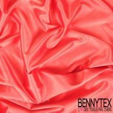 Satin Coton Polyester Élasthanne Couleur Rose Saumon