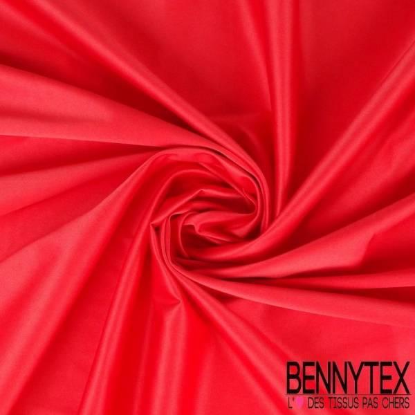 Satin Coton Polyester Élasthanne Couleur Rose Vif
