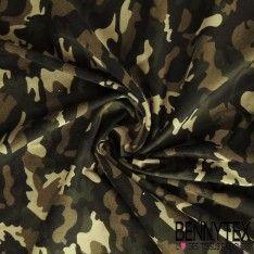 Velours Milleraies Motif Camouflage