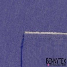 Coton Popeline Chemise Couleur Denim