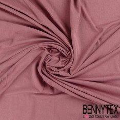 Jersey Polyester Uni Couleur Vieux Rose