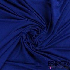 Jersey Polyester Uni Couleur Bleu Roi