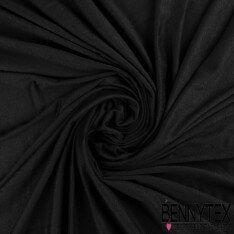 Jersey Polyester Uni Couleur Noir
