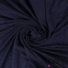 Jersey Polyester Uni Couleur Bleu Marine