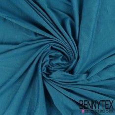 Jersey Polyester Uni Couleur Bleu Canard