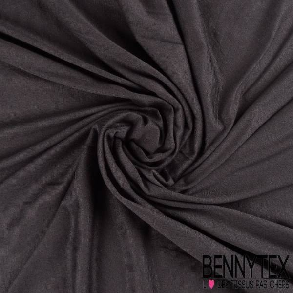 Jersey Polyester Uni Couleur Gris Anthracite