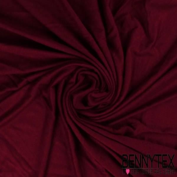 Jersey Polyester Uni Couleur Bordeaux