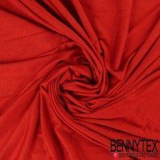 Jersey Viscose Uni Couleur Rouille
