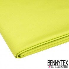 Coupon Gabardine Polyester Coton Vert Chartreuse