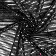 Maille 3D Polyester Petits carreaux Couleur Noir