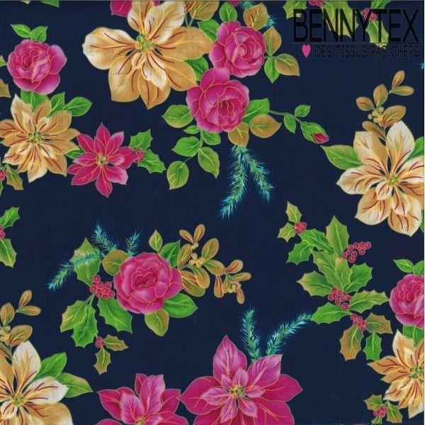 Coton Imprimé Motif Fleuri Réf :288