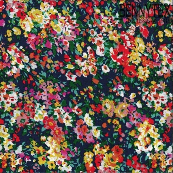 Coton Imprimé Motif Fleuri Réf :291