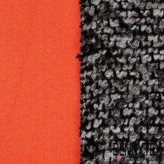 Laine Double Face Envers Scuba Couleur Orange