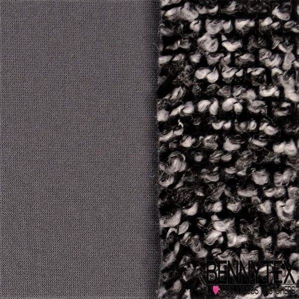 Laine Double Face Envers Scuba Couleur Gris Anthacite