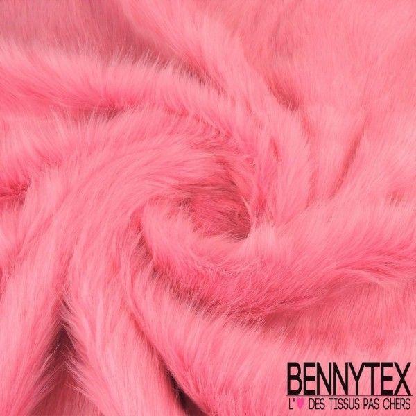 Fourrure Candy Pink à Poils Long