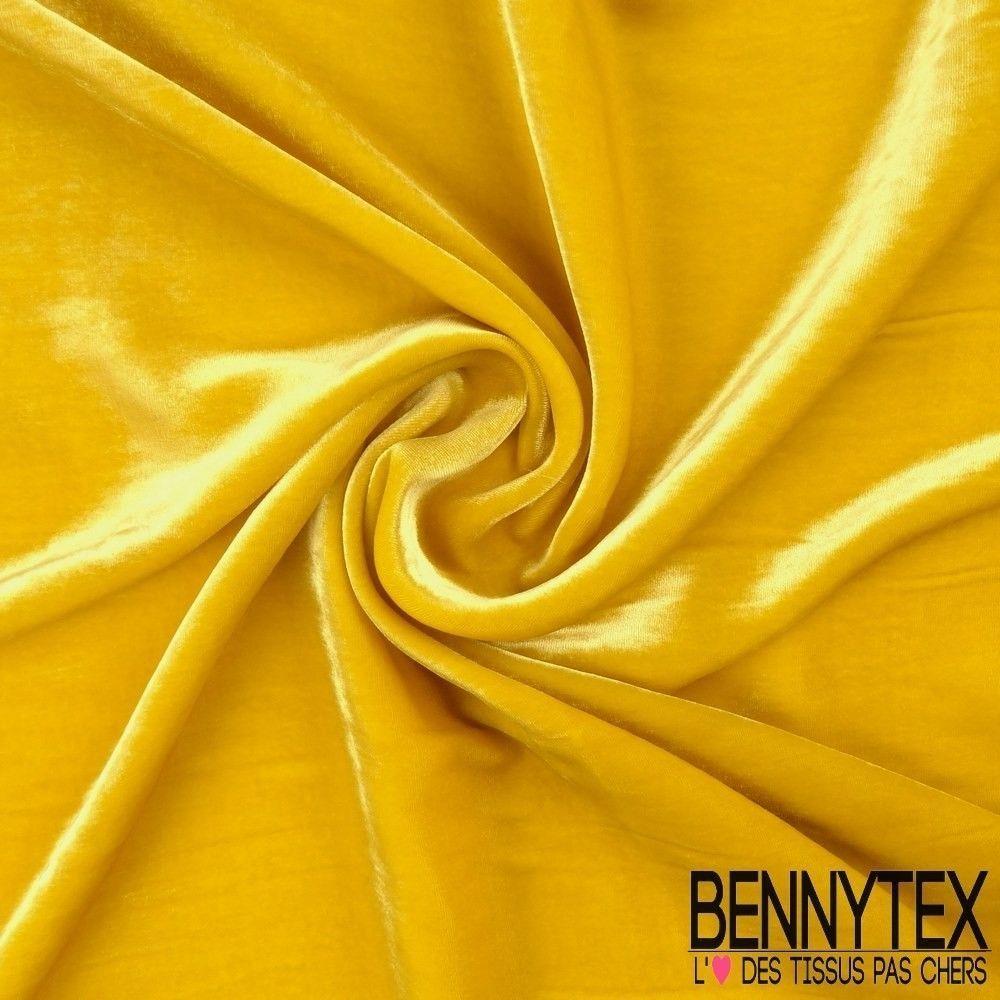 velours de soie jaune curry bennytex vente de tissus pas cher au m tre. Black Bedroom Furniture Sets. Home Design Ideas