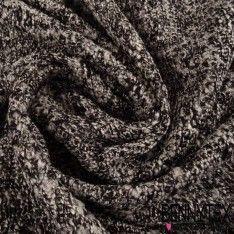 Maille Polyester Face Laquée Couleur Grise Et Blanche