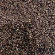 Maille Polyester Face Laquée Couleur Taupe et Noire