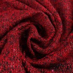Maille Polyester Face Laquée Couleur Rouge et Noire