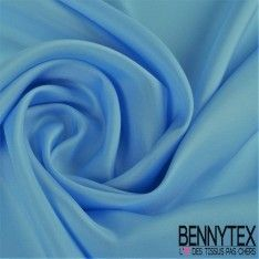 Pongée de Soie (100% Soie) - Bleu Ciel