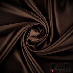 Satin de Soie 16 Momme Couleur Chocolat