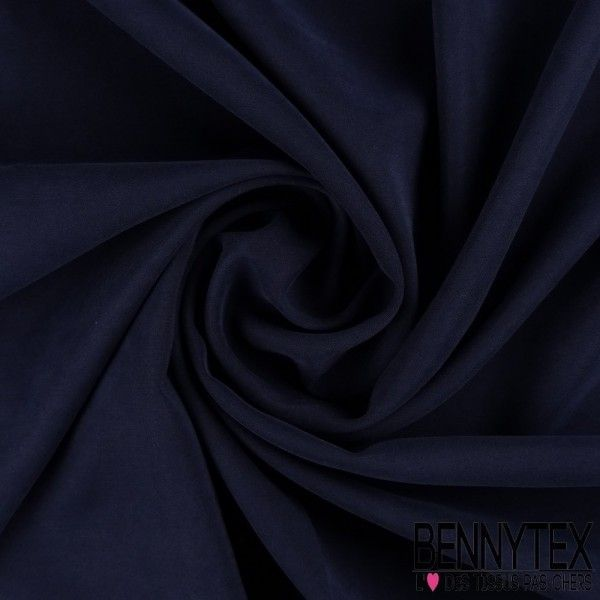 Tissu Cupro Viscose Lourd Couleur Bleu Marine