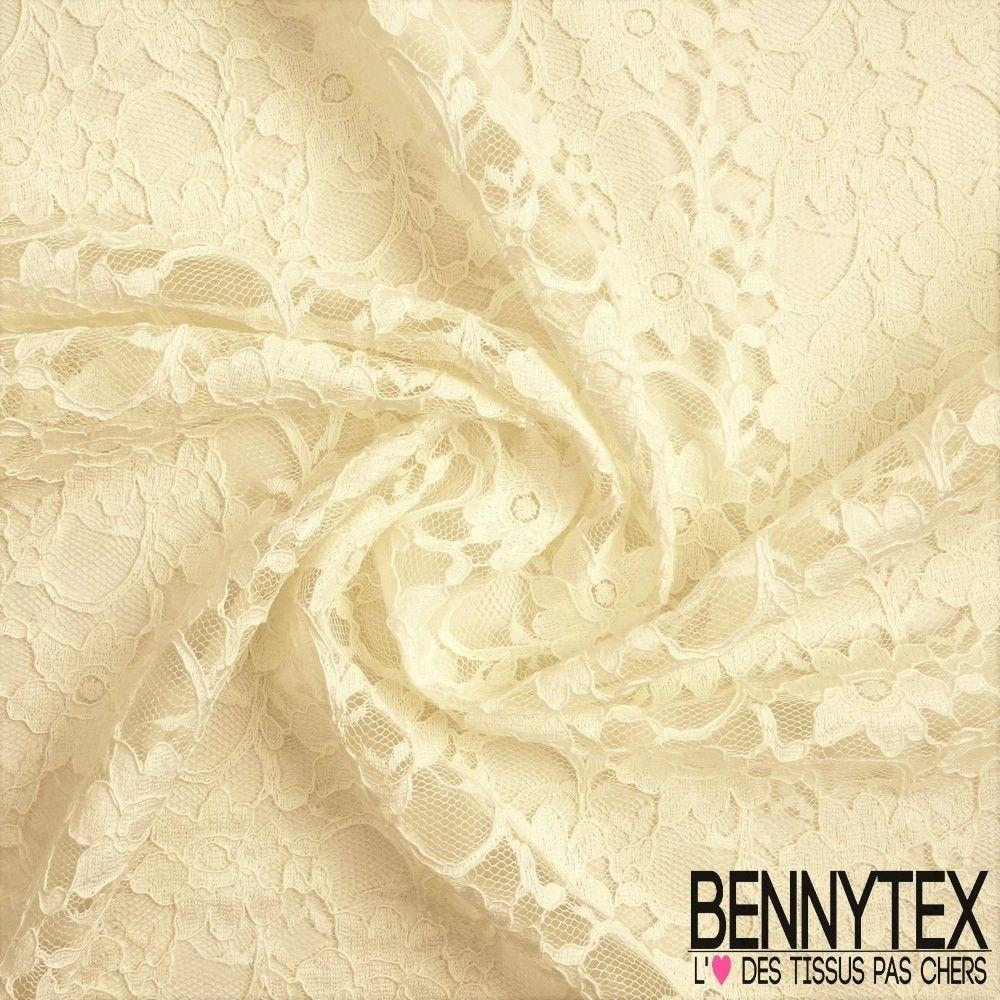 dentelle guipure fleurs haut de gamme couleur ecru bennytex vente de tissus pas cher au m tre. Black Bedroom Furniture Sets. Home Design Ideas