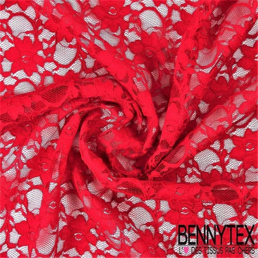 dentelle guipure fleurs haut de gamme couleur rouge bennytex vente de tissus pas cher au m tre. Black Bedroom Furniture Sets. Home Design Ideas