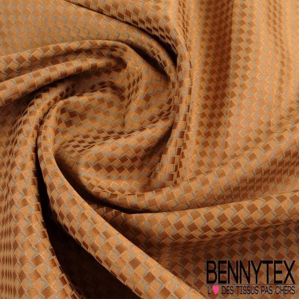 carr de soie satin n 91 petits carreaux beige fonc bennytex vente de tissus pas cher au m tre. Black Bedroom Furniture Sets. Home Design Ideas