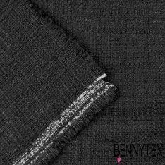 Tissu Coton Natté Couleur Noir