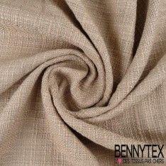 Tissu Coton Natté Couleur Beigeasse