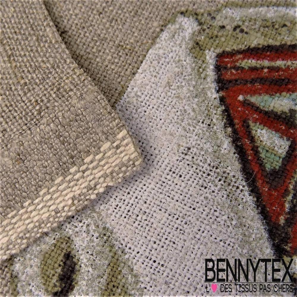 Toile de Lin Imprimé Modèle CANADA Fond Lin | Bennytex vente de ...