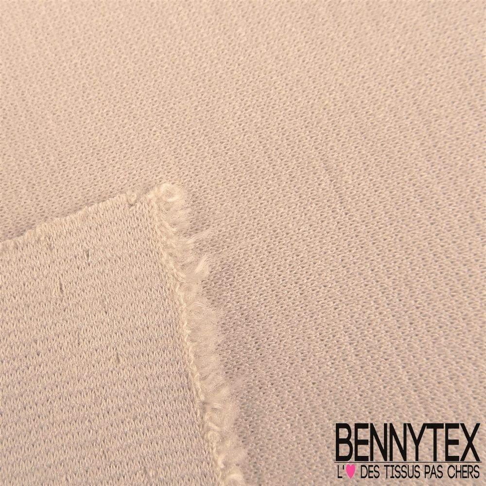 jersey milano bianca couleur beige clair bennytex vente de tissus pas cher au m tre. Black Bedroom Furniture Sets. Home Design Ideas