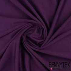 "Jersey Milano ""BIANCA"" Couleur Aubergine"