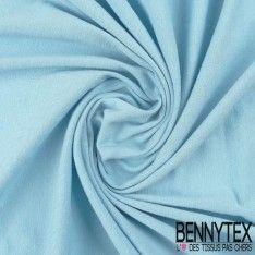 Jersey Coton Peigné Couleur Bleu Ciel