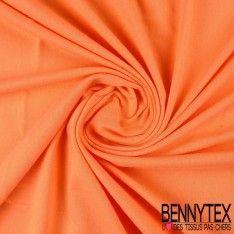 Jersey Coton Peigné Couleur Corail