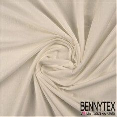 Jersey Coton Peigné Couleur Blanc Cassé